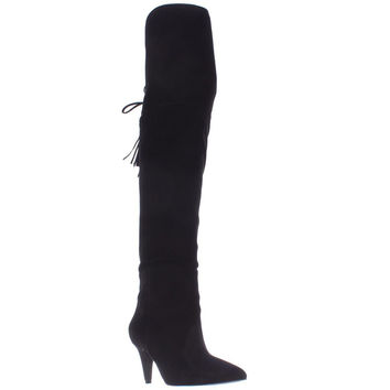 Nine West Josephine Over-The-Knee Boots, Black Suede, 6.5 US