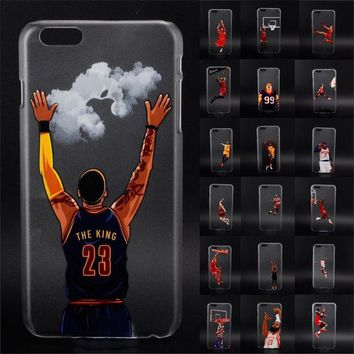 DCKL9 NBA star basketball player phone case for iphone 5 5s 6 6s 7 plus Jordan 23 james hard