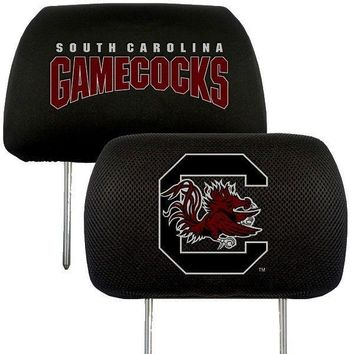 South Carolina Gamecocks 2-Pack Auto Car Truck Embroidered Headrest Covers
