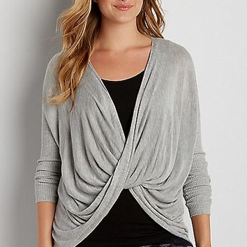 pullover sweater with twisted front | maurices
