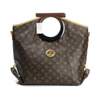 Louis Vuitton LV  Fashion Leather Tote Handbag Satchel Shoulder Bag
