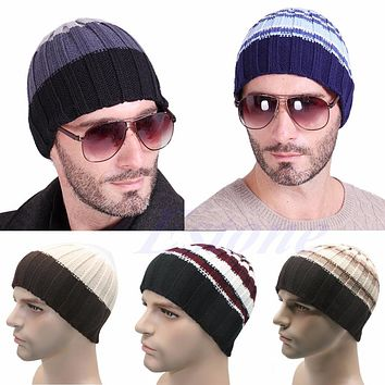 Mens Women Knit Winter Warm Ski Crochet Slouch Oversized Hat Unisex Cap Beanie