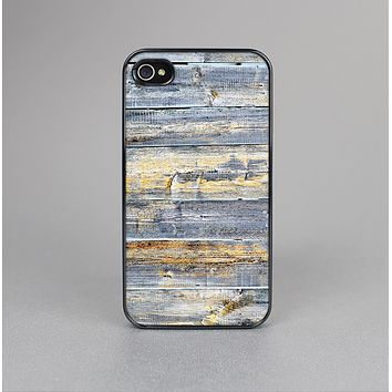 The Vintage Wooden Planks with Yellow Paint Skin-Sert Case for the Apple iPhone 4-4s