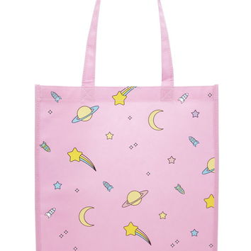 Space Graphic Shopper Tote