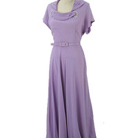 40s Vintage Evening Dresses-1940s Formal Gown