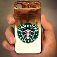 Iced Coffee Starbucks - for iPhone 4 case iphone 4S case iPhone 5 Case iphone 4/4s/5 Case Hard Cover