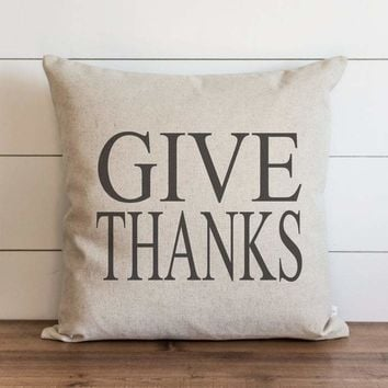Fall Give Thanks Pillow Cover