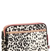 steph&co. 'Leopard' Large Nylon Cosmetics Case (Nordstrom Exclusive)