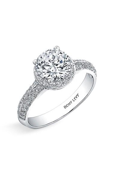 Women39s bony levy pave diamond engagement from nordstrom for Nordstrom wedding rings