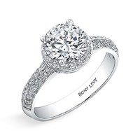 Women's Bony Levy Pave Diamond Engagement Ring Setting (Nordstrom Exclusive)