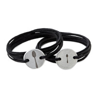 couples engraved wrap bracelets set of two