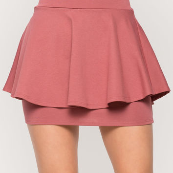 Double Layered Mini Skirt