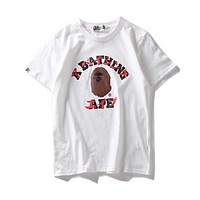 BAPE Unisex Fashion Casual Pattern Print T-shirt