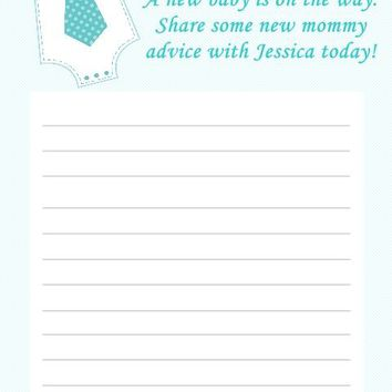 10 Boy Baby Shower Advice Cards
