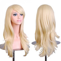 Blonde Cosplay Curly Wig Body Wave  Wig
