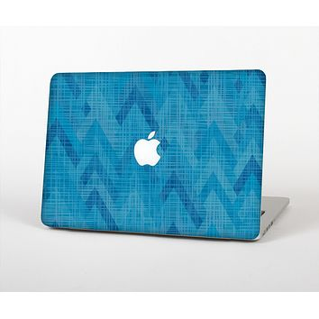 The Woven Blue Sharp Chevron Pattern V3 Skin for the Apple MacBook Air 13""