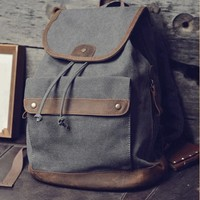 backpack/ canvas bag/leather leisure bag/Washed canvas bag/travelling