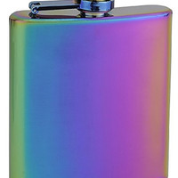 Top Shelf Flasks Rainbow Colored Hip Flask, 6 oz