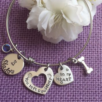 Pet Memorial Jewelry - Dog Memorial Bracelet - Memorial Bracelet - Dog Bracelet - Dog Jewelry - Pet Loss Gift - Dog Loss - Dog Remembrance