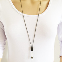 Long Chain Arrow Necklace