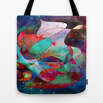Time Warped Tote Bag by DuckyB (Brandi)