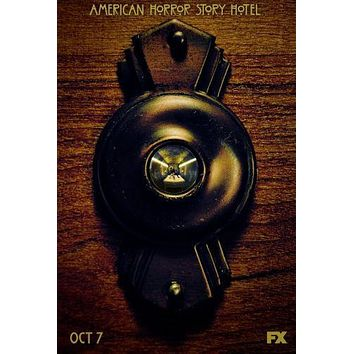 American Horror Story Hotel poster Metal Sign Wall Art 8in x 12in