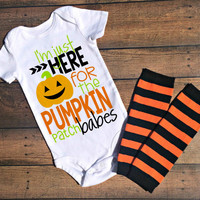 halloween baby outfit, halloween baby shower gift, halloween baby boy, halloween baby clothes, pumpkin patch bodysuit, fall baby outfit