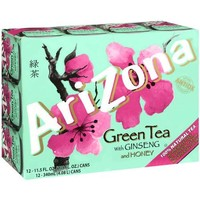 Arizona Green Tea With Ginseng & Honey, 11.5 oz, 12ct - Walmart.com