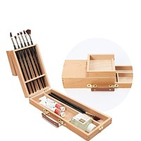 Wooden Pencil Case School Art Supplies Stationery Gift Pencil Box Pencilcase Pencil Bag Painting Box