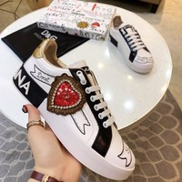 Dolce&Gabbana Women Casual Shoes Boots fashionable casual leather Women Heels Sandal