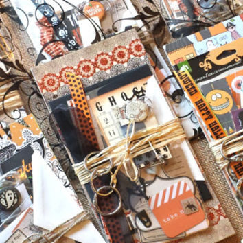 Halloween | Trick or Treat Journal Kit | Mini Album | Teen Journal | Smash Book | Junk Journal | Mixed Media Kit | Notebook | My Minds Eye