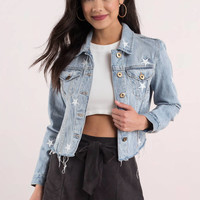 Pistola Brando Cropped Denim Jacket