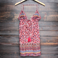 tiki dress - red