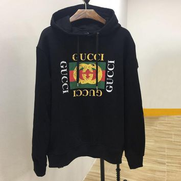 One-nice™ GUCCI Women Man Fashion Print Long Sleeve Top Sweater Pullover Hoodie
