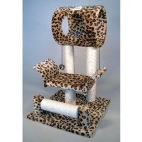 My Associates Store - Go Pet Club Cat Tree Condo House, 18W x 17.5L x 28H Inches, Leopard