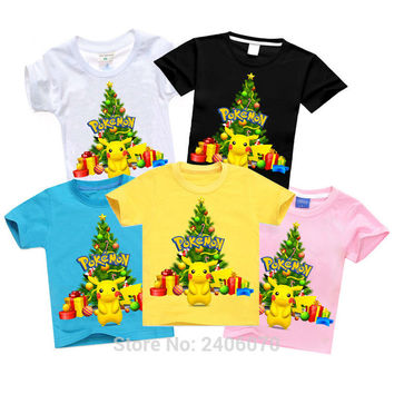 boys t shirts Pokemon Go Hot Children Clothes summer New Design bobo choses Pikachu christmas Shirt Short Sleeve tops kids brand