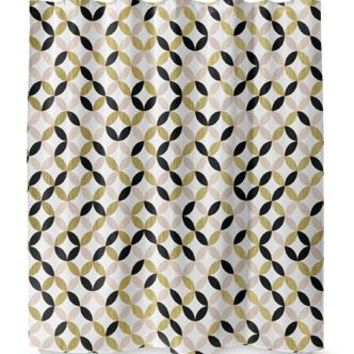 GOLD BLACK PINK AND WHITE Shower Curtain By Terri Ellis