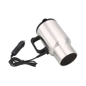 Car Coffee Mug Electric Heated 450ML Thermos Cup
