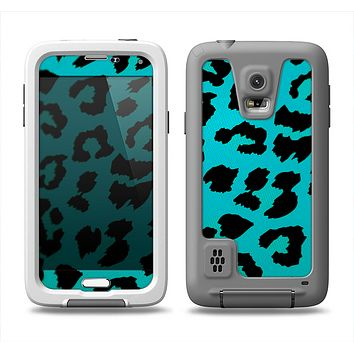 The Hot Teal Vector Leopard Print Samsung Galaxy S5 LifeProof Fre Case Skin Set