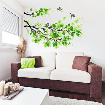 kcik515 Full Color Wall decal tree branch bird living room bedroom children's room