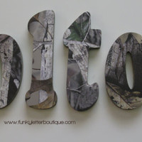 Advantage Timber Camo Wall Letters