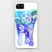 An Elephant Plays Soccer iPhone & iPod Case by DEPPO