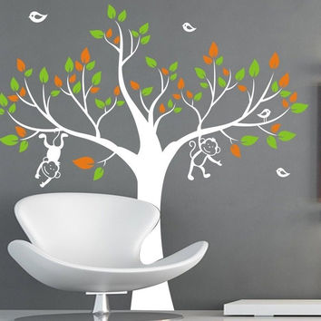 1.3M  MONKEY Tree Removable Wall Art Stickers Kids Nursery Baby Room Vinyl Decals Tree Wall sticker for Children room ES-16