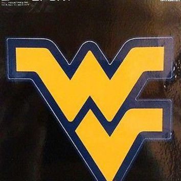 "West Virginia Mountaineers 3"" Flat Sport Die Cut Decal Bumper Sticker University"
