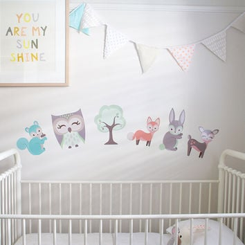 Woodland Theme Removable Nursery Wall Decals