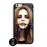 Lana Del Rey Blod Lips With Blue Rose iPhone 6 Plus Case