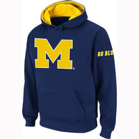 Michigan Wolverines Navy Blue Twill Pep Rally Hooded Sweatshirt