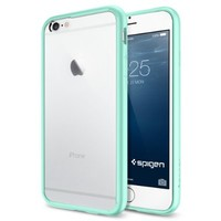 iPhone 6 Case, Spigen® [Ultra Hybrid Series] AIR CUSHION [Mint] Air Cushion Technology Bumper Case with Clear Back Panel for iPhone 6 (2014) - Mint (SGP11021)