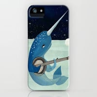 Narwhal's Aquarelle iPhone Case by Andrea Lauren | Society6