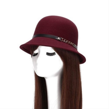 2016 sun hat Ladies Women Girls Vintage Wool female hat Felt Bowler Derby Fedora Trilby Bowknot autumn hat Cap For Woman